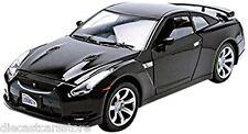 MOTORMAX NISSAN GT-R GLOSSY BLACK 1/24 New In BOX Diecast Car 73384