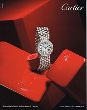 PUBLICITE ADVERTISING 114  2014   CARTIER   montre collection BALLON BLANC
