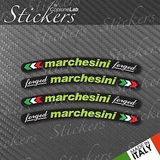 Set Adesivi per Cerchi Marchesini Forged Verde fondo Nero Ducati