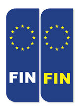 2 x FINNISH/FINLAND Euro Car Number Plate vinyl stickers