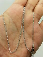 "14k White Gold Round Wheat Necklace Pendant Chain 18"" 1.2mm"