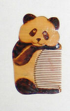 """Carved Wood Panda Comb from China Chinese 2"""""""
