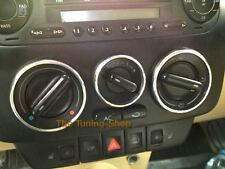 Adatta VW NEW BEETLE HEATER CONTROL circonda DASH Chrome Anelli Nuovo Lucido in Lega