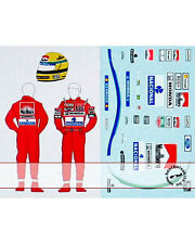 1/18 DECAL HELMET FIGURE AYRTON SENNA TEAM McLAREN