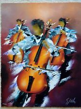 VICTOR SPAHN MUSCIENS GICLEE SIGNED #341/450 W/COA CELLO MUSCIANS