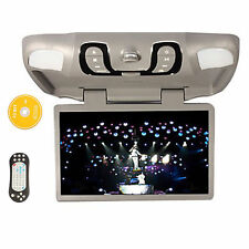 "New 15.6"" Car Flip Down TFT Screen LCD Monitor Auto Roof Mount Bulit In DVD gray"