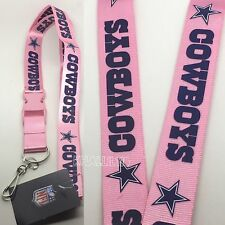 NFL Dallas Cowboys Breakaway Lanyard (Pink Color)