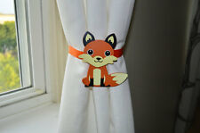 Nursery Curtain Tie Backs - 2pc Set Nursery Decor - Fox