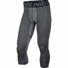 Nike PRO 3/4 Men's Gray Compression Basketball Training Tights Sz Med 819701 $45