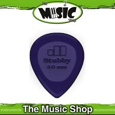 20 x Jim Dunlop 3mm Stubby Guitar Picks - Bulk Purple Blue Stubbie Plectrums