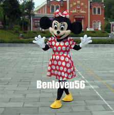 For Daughter's Gift Minnie Mouse Cartoon Costume Mascot Adult Size HIgh School