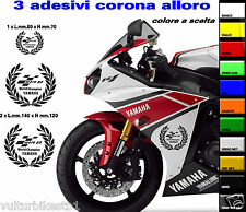 kit adesivi compatibili per carene yamaha r6 corona alloro motogp world champion