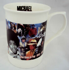 Michael Jackson Taza Michael Jackson Collage Bone China Taza Decorada mano en el Reino Unido
