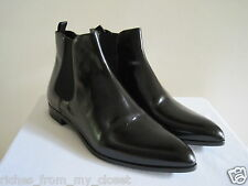 New w/o Box PRADA Black Leather Ankle Boots Shoes Size 39.5 / US 9.5
