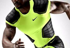 NIKE ProCombat Hyperstrong 3.0 Compression 4-Pad Football Shirt Volt & Black XL
