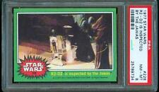 """1977 Topps STAR WARS """"R2-D2 is inspected by the Jawas"""" Trading Card #228 PSA 8"""