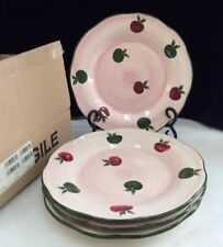 """Franciscan APPLE PIE hand painted 8.5"""" PLATES SET OF 4 MIB"""