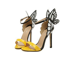 Women High Heels Stiletto Shoes Butterfly Heeled Sandals UK Size 2-7 Ankle Strap