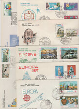 Turkish occ. Cyprus FDC 1975 to 1985 Europa cept plus UN - 7 covers