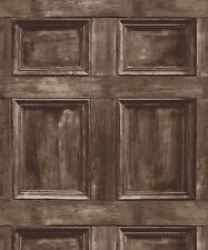 Wood Panel Wallpaper - Panelling Cladding Brown