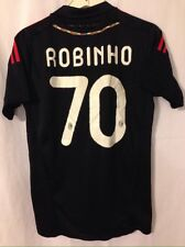 Robinho #70 AC Milan Black Size 4 (Adult Small) Jersey Emirates P-Soccer