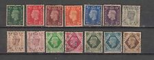 Great Britain King George VI 1937 Used Set complete to One Shilling 14 Stamps