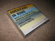 Americans in Rome Various Composers CD New Sealed Academy Donald Berman Director