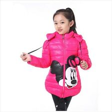 Kids Clothes Rose Winter Children's Padded Hooded Jacket Girls Jacket Coat 8-9Y