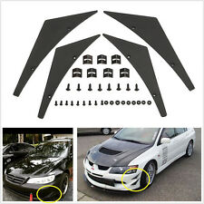 Universal Fit Car Front Bumper Splitter Fins Body Spoiler Canards Valence Chin