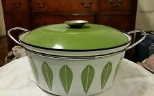 Catherineholm Norway Vintage Mid Century Green Lotus Large Dutch Oven Pot 10 3/4