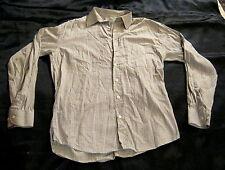 Herrenhemd,Einhorn,Gr. 38,100% Baumwolle,mehrfarbig (weiß/braun/blau gestreift)