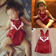Newborn Infant Baby Girl Fox Cotton Bodysuit Romper Jumpsuit Clothes Outfit 0-6M