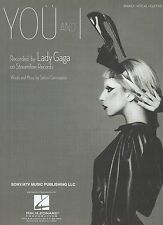 Lady GaGa    You And I     US Sheet Music