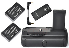 Vertical Battery Grip For Canon 100D EOS Rebel+2xLP-E12 Battery IR Remote Camera