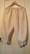 LADIES PLUS SIZE RENAISSANCE BLOOMERS HANDMADE IN USA  COTTON  SCA, CIVIL WAR