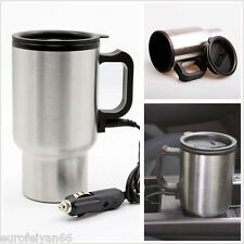 Portable DC12V Stainless Steel Car SUV Interior Heated Water Coffee Tea Cup Mug