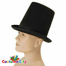 Adults Mens Victorian Steampunk Stove Pipe Top Hat Fancy Dress Party Accessory