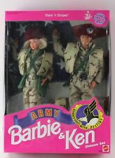 New MATTEL Stars 'N Stripes Army Barbie & Ken Deluxe Set