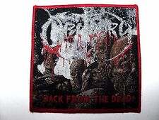 OBITUARY BACK FROM THE DEAD  WOVEN PATCH