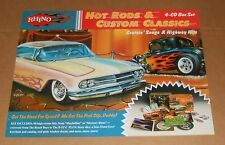 Rhino Hot Rods and Classics Cruisin' Songs and Highway Hits Promo Poster 18x24