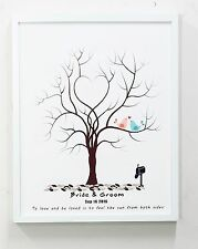 custom  Wedding Fingerprint Tree print poster canvas  unframed,guest book