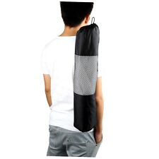 Portable Yoga Pilates Mat Nylon Bag Carrier Mesh Case Adjustable Strap G~