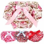 Baby Infant Toddler Girl Ruffle PP Pants Culotte Bloomers Bow Mini Pantskirts