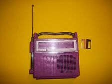 Rare Vintage Purple General electric Radio, Solid state 60's-70's