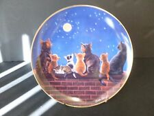 "DANBURY MINT THE SECRET LIFE OF CATS COLLECTOR PLATE ""MOONSTRUCK"""