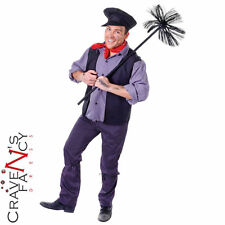 Adult Chimney Sweep Costume Bert Fancy Dress Book Day Mens Outfit Mary Poppins