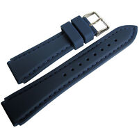 22mm Hadley-Roma MS3346 Mens Blue Silicone Rubber Dive Watch Band Strap
