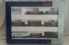 ROCO HO GAUGE 44003 DRG 8 CAR FREIGHT WAGON SET