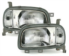 headlight set H4 front lights in clear chrome finish for NISSAN MICRA K11 92-95