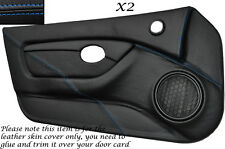 BLUE STITCH 2X FULL DOOR CARD TRIM LEATHER SKIN COVERS FITS MG MGTF MK2 00-06
